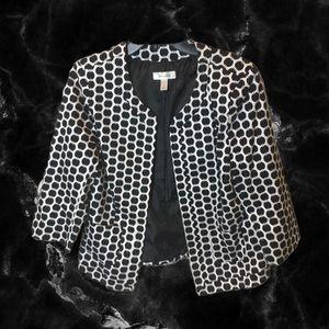 Patterned Jacket in Black & White by Dressbarn